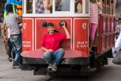 Nostalgic Tram at Istiklal