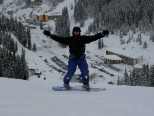 Snowboarding in Hochfügen / Zillertal / Tyrol / Austria