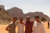Backpackers in Wadi Rum